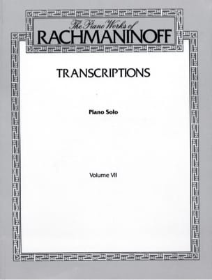 Transcriptions RACHMANINOV Partition Piano - laflutedepan