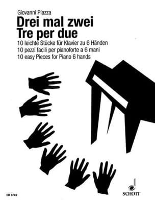 3 Mal 2. 6 Mains Giovanni Piazza Partition Piano - laflutedepan