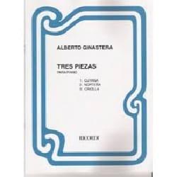 3 piezas GINASTERA Partition Piano - laflutedepan