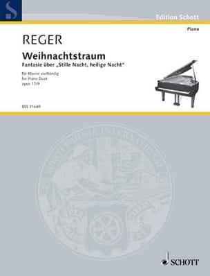 Weihnachtstraum, Op. 17-9. 4 Mains Max Reger Partition laflutedepan