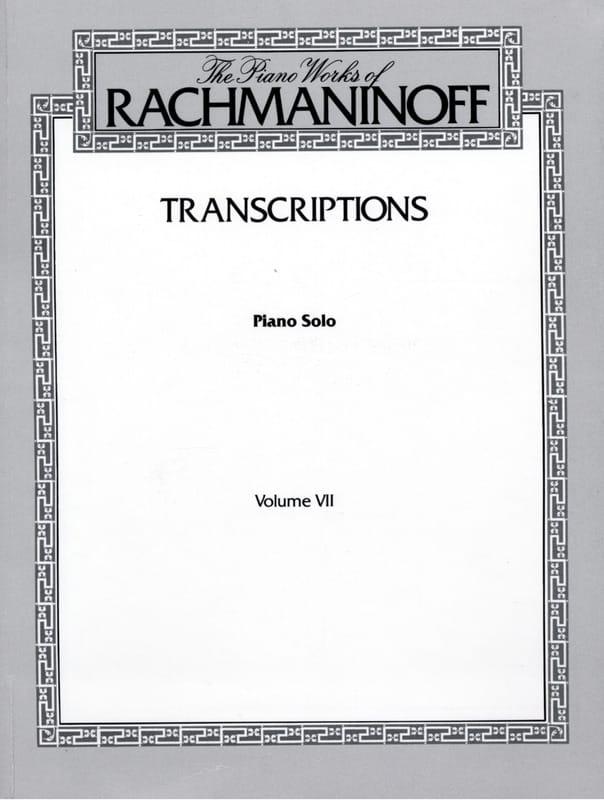 Transcriptions - RACHMANINOV - Partition - Piano - laflutedepan.com