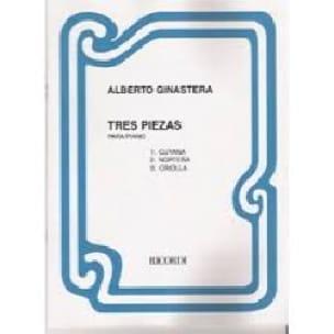 3 piezas - GINASTERA - Partition - Piano - laflutedepan.com