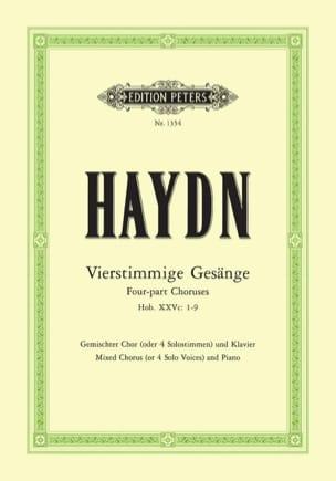 HAYDN - Vierstimme Gesange Hob 25c-1/9 - Partition - di-arezzo.com