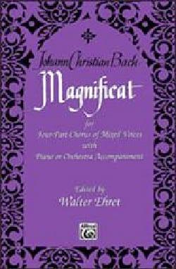 Magnificat Johann Christian Bach Partition Chœur - laflutedepan