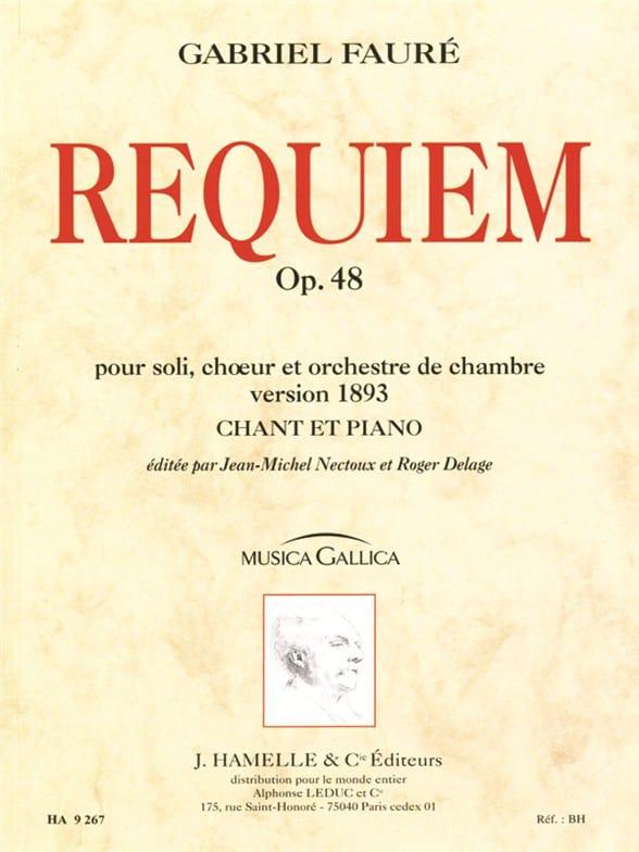 Requiem - Version 1893 - FAURÉ - Partition - Chœur - laflutedepan.com