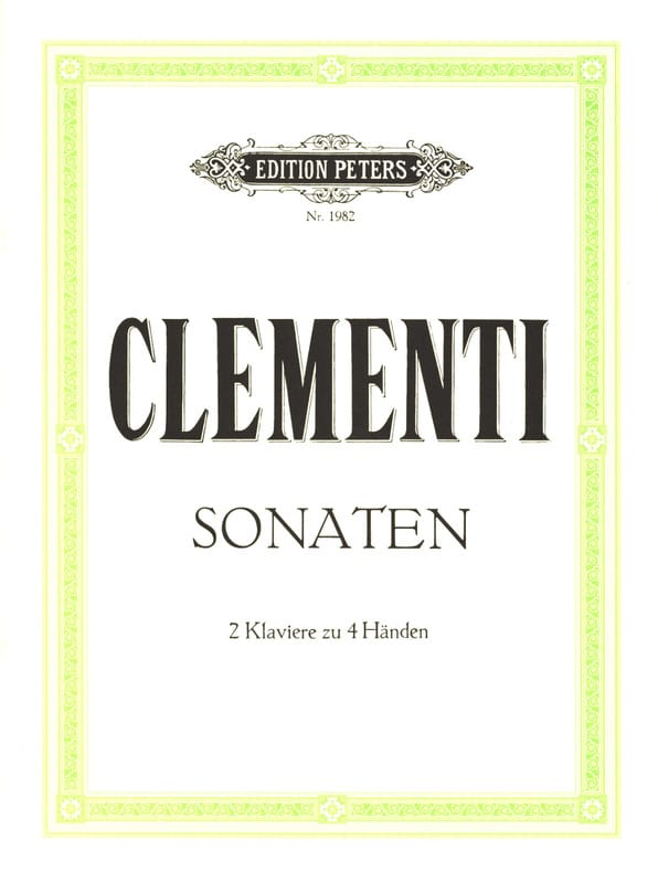 2 Sonates. 2 Pianos - CLEMENTI - Partition - Piano - laflutedepan.com