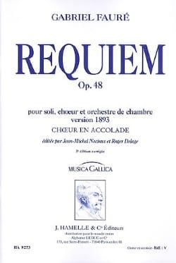 Requiem Opus 48 Version 1893. Choeur seul FAURÉ Partition laflutedepan