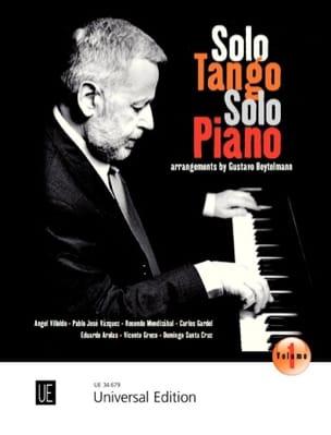 Solo Tango, Solo Piano. Volume 1 Partition Piano - laflutedepan