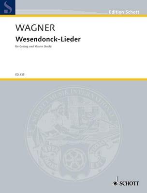 Wesendonck-Lieder. Voix Haute WAGNER Partition Mélodies - laflutedepan