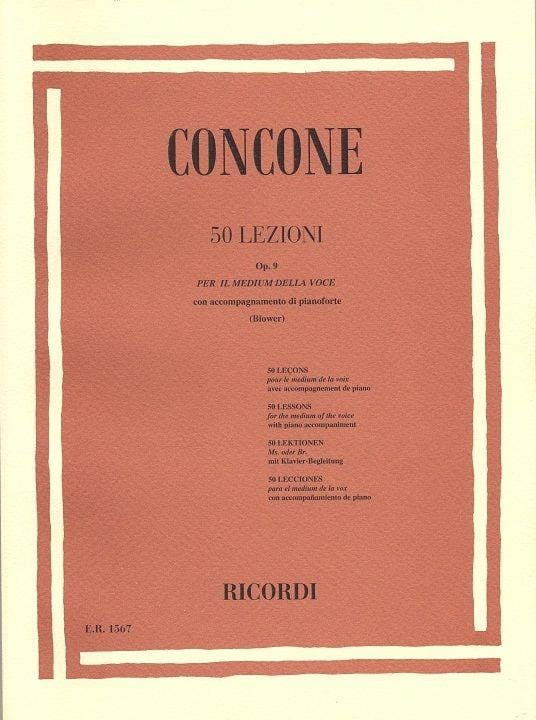 50 Lezioni Opus 9 - Giuseppe Concone - Partition - laflutedepan.com