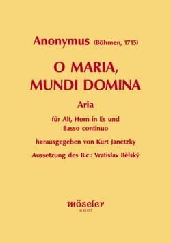 O Maria, mundi Domina Partition Cor - laflutedepan
