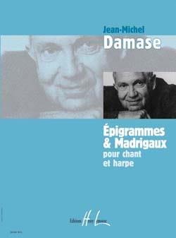 Epigrammes et Madrigaux Jean-Michel Damase Partition laflutedepan