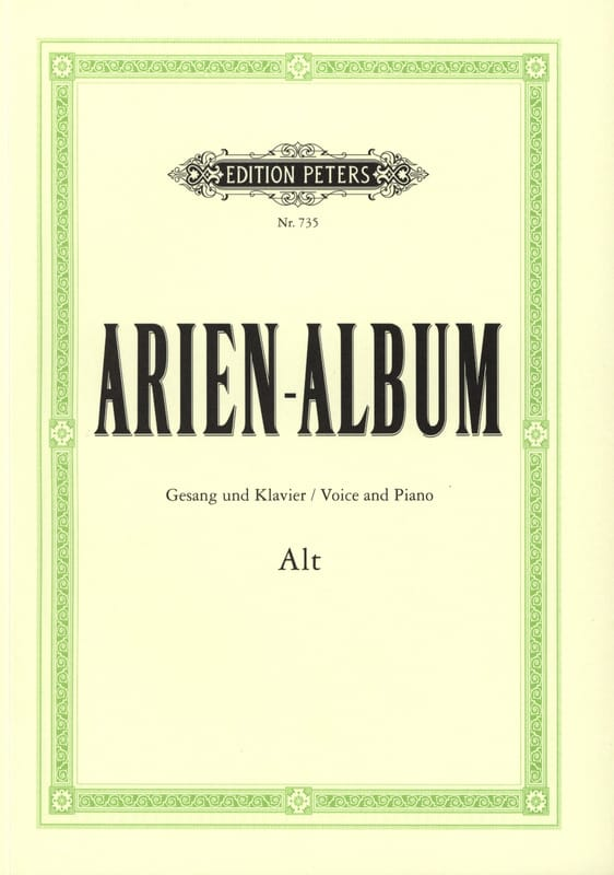 Arien Album Alt - Partition - Recueils - laflutedepan.com