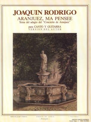 Joaquin Rodrigo - Aranjuez, my thought - Partition - di-arezzo.co.uk