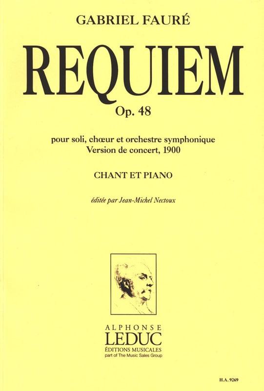Requiem - Version 1900 - FAURÉ - Partition - Chœur - laflutedepan.com