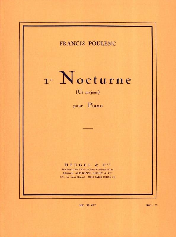 Nocturne N°1 En Ut Majeur - POULENC - Partition - laflutedepan.com