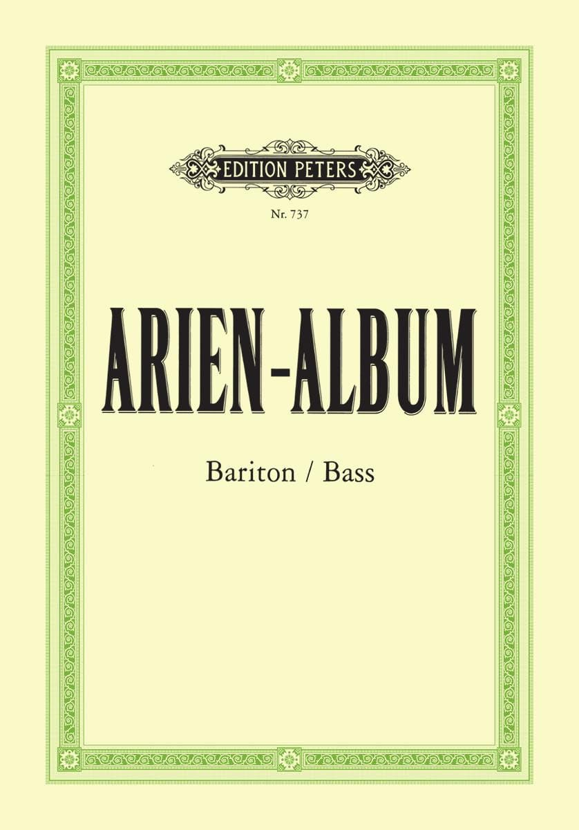 Arien Album Baryton / Basse - Partition - laflutedepan.com