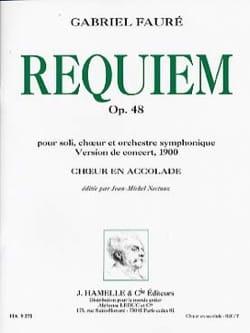 Requiem Opus 48 Version 1900. Choeur seul FAURÉ Partition laflutedepan