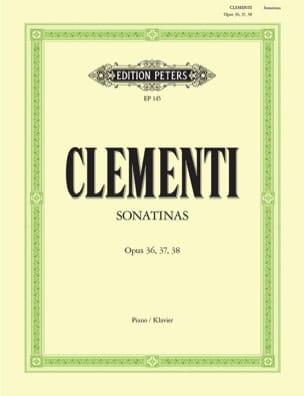 Muzio Clementi - Sonatines Opus 36, 37, 38 - Partition - di-arezzo.co.uk