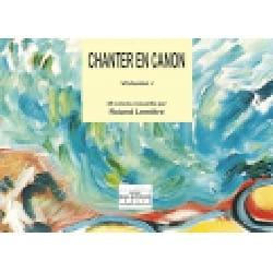 Chanter En Canon Volume 1 Partition Chœur - laflutedepan