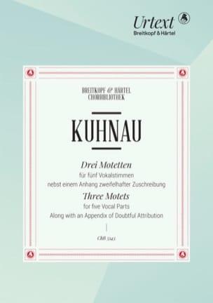 3 Motets Johann Kuhnau Partition Chœur - laflutedepan