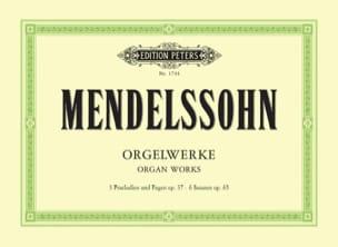 Sämtliche Orgelwerke MENDELSSOHN Partition Orgue - laflutedepan