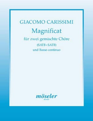 Magnificat Giacomo Carissimi Partition Chœur - laflutedepan