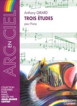 3 Etudes - Anthony Girard - Partition - Piano - laflutedepan.com