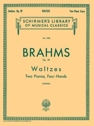 Walzes Op. 39. 2 Pianos BRAHMS Partition Piano - laflutedepan