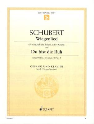 Wiegenlied Opus 98-2 / Du Bist Die Ruh Opus 59-3 SCHUBERT laflutedepan
