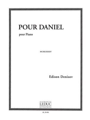Pour Daniel Edison Denisov Partition Piano - laflutedepan