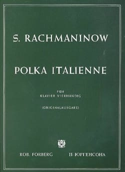 Polka Italienne. 4 Mains RACHMANINOV Partition Piano - laflutedepan