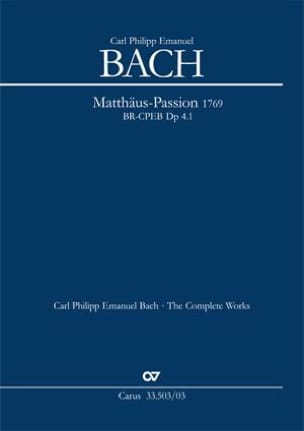 Passion selon St Matthieu Carl-Philipp Emanuel Bach laflutedepan