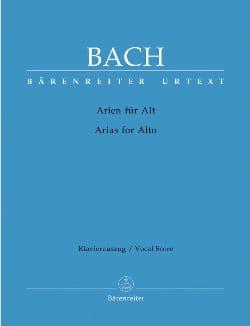 Das Arienbuch / The Aria Book. Alto BACH Partition laflutedepan