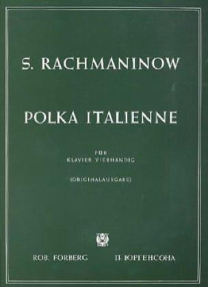 Polka Italienne. 4 Mains - RACHMANINOV - Partition - laflutedepan.com