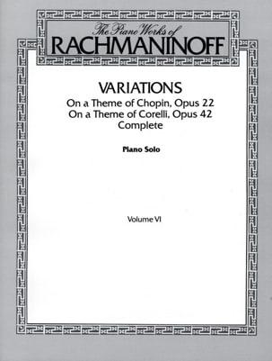 Variations RACHMANINOV Partition Piano - laflutedepan