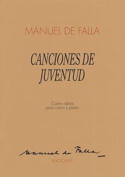Canciones de Juventud DE FALLA Partition Mélodies - laflutedepan