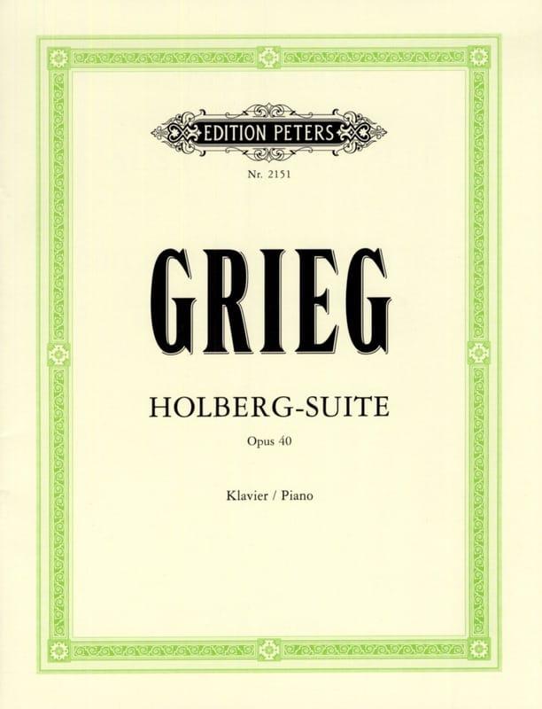 Holberg-Suite Opus 40 - GRIEG - Partition - Piano - laflutedepan.com