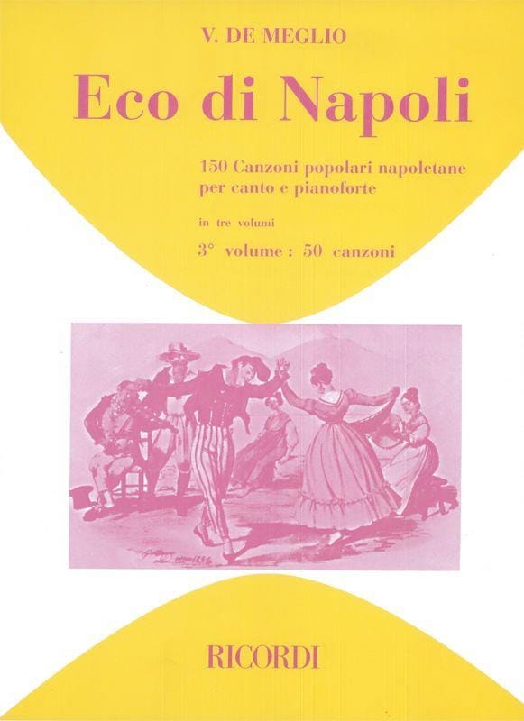 Eco Di Napoli. Volume 3 - Partition - Mélodies - laflutedepan.com