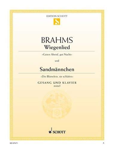 Berceuse (Wiegenlied) Opus 49-4 - Sandmännchen Opus 49-1. Voix moyenne - laflutedepan.com