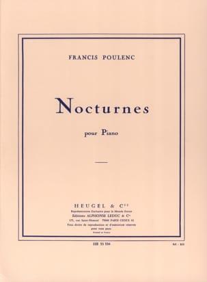 Nocturnes POULENC Partition Piano - laflutedepan