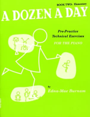 A Dozen A Day Volume 2 en Anglais Partition Piano - laflutedepan