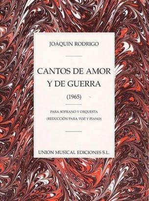 Cantos de Amor Y de Guerra RODRIGO Partition Mélodies - laflutedepan