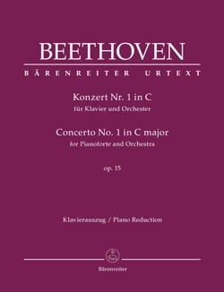 Concerto Pour Piano n° 1 op. 15 En Do Majeur BEETHOVEN laflutedepan