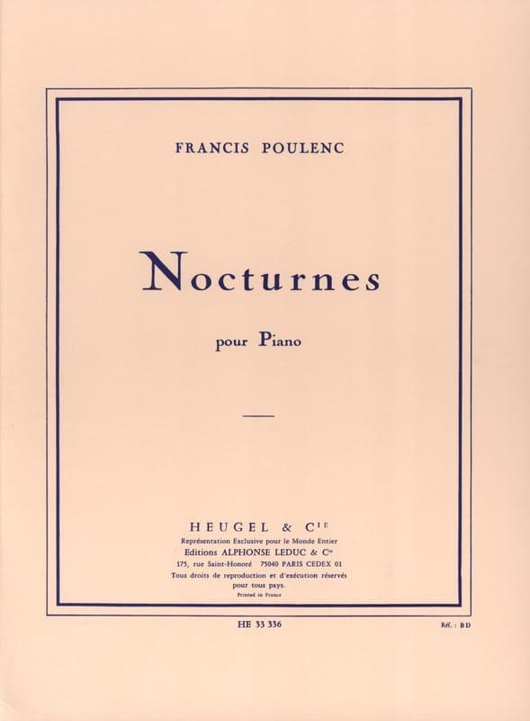 Nocturnes - POULENC - Partition - Piano - laflutedepan.com