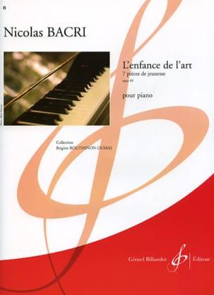 L'enfance de L'art Op. 69 Nicolas Bacri Partition Piano - laflutedepan