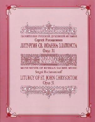 Liturgie de Saint Jean Chrysostome Opus 31 - laflutedepan.com
