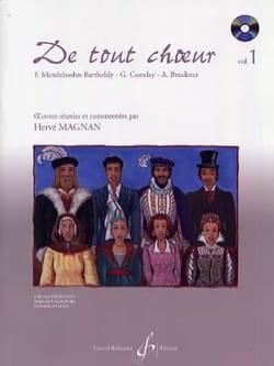 De tout choeur Volume 1 Hervé Magnan Partition Chœur - laflutedepan