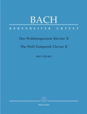 Le Clavier Bien Tempéré - Volume 2 BACH Partition Piano - laflutedepan