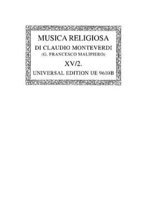 Musica Religiosa 1640/41. Oc15/2 MONTEVERDI Partition laflutedepan